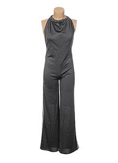 Combi-pantalon gris JACQUELINE COQ pour femme