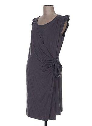 Robe mi-longue gris COLLINE pour femme