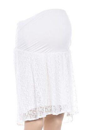 Jupe mi-longue blanc COLLINE pour femme