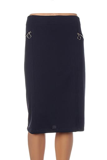 Jupe mi-longue bleu H-3 pour femme