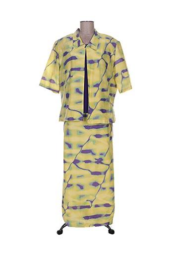 Veste/jupe jaune CLAUDE BAUER pour femme