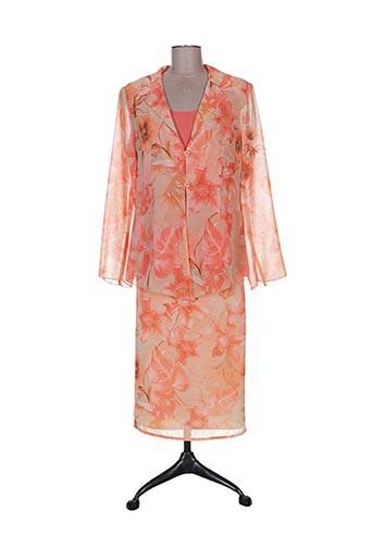 Veste/jupe orange CLAUDE BAUER pour femme
