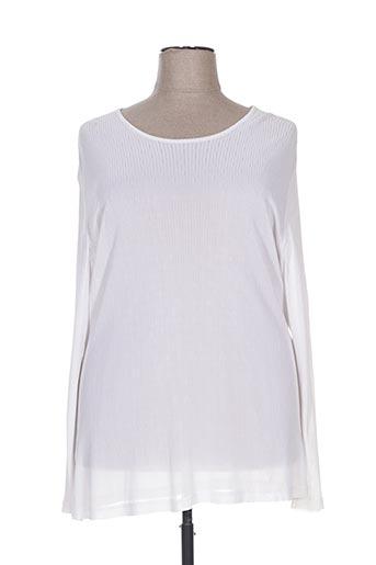 T-shirt manches longues blanc DEOMINO pour femme