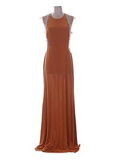 Robe longue marron F &  P pour femme