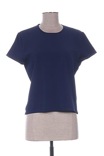 T-shirt manches courtes bleu RALPH LAUREN pour femme