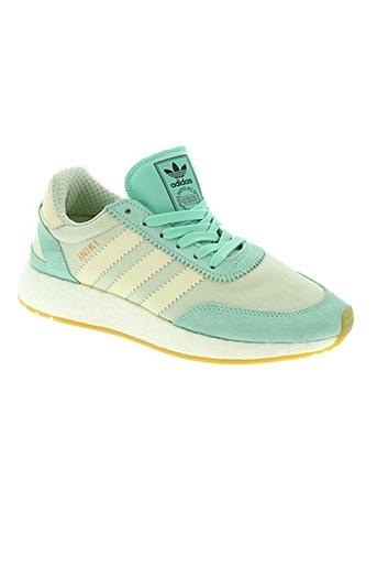 adidas chaussures femme de couleur vert