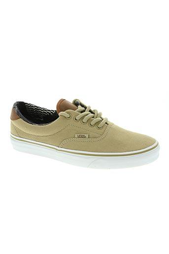 vans chaussures homme de couleur beige