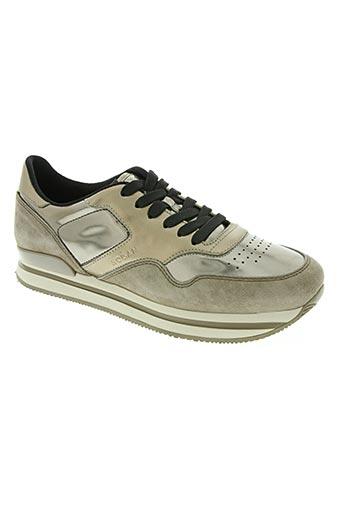 hogan chaussures femme de couleur marron