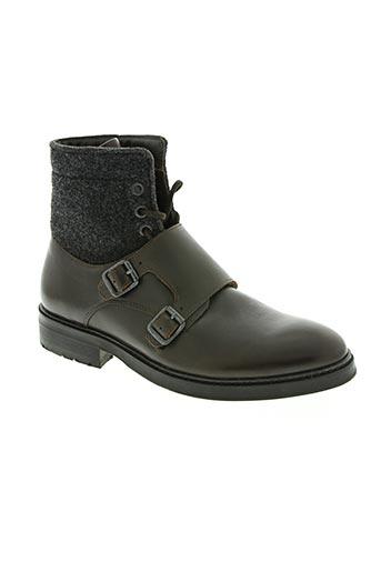 armani chaussures homme de couleur marron