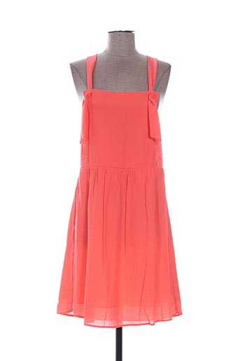 Robe mi-longue orange ACOTÉ pour femme