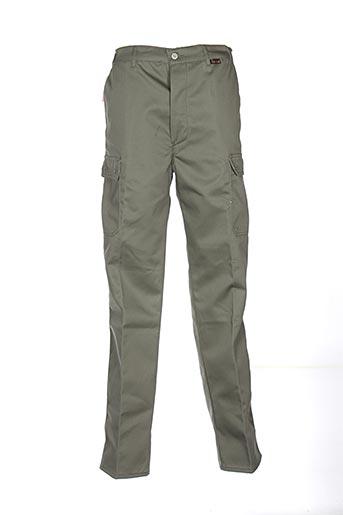 laboureur pantalons homme de couleur vert