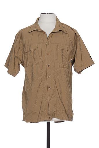 Chemise manches courtes marron ICEPEAK pour homme