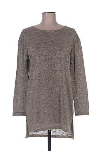 T-shirt manches longues gris NICE THINGS pour femme
