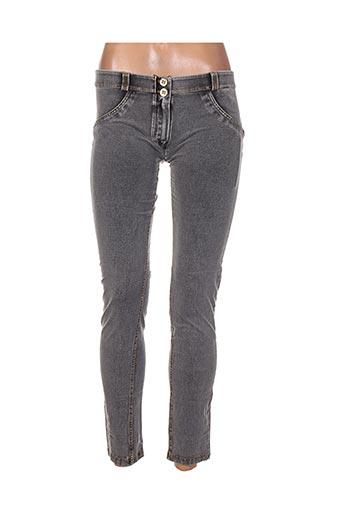 Pantalon casual gris FREDDY pour femme