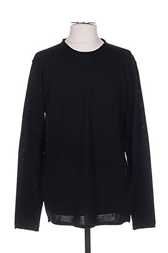 Pull col rond noir KNIT SOCIETY pour homme