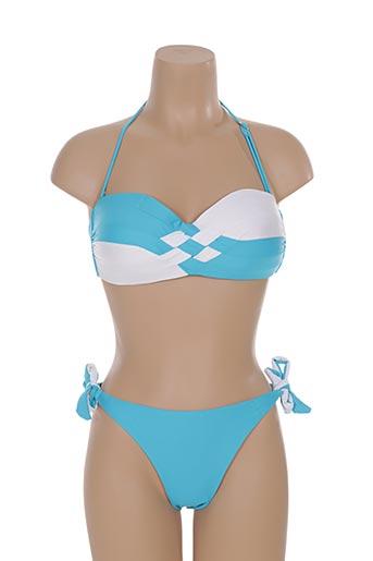 katia maillots de bain femme de couleur bleu