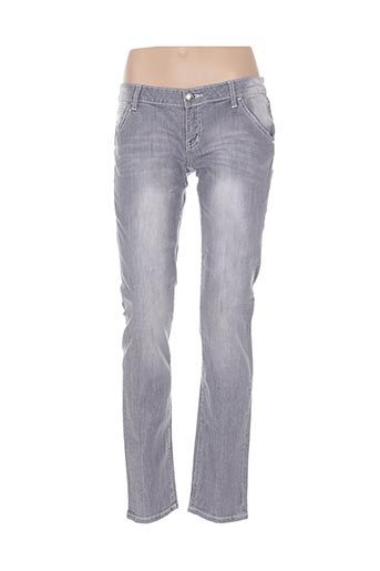 alicia jeans jeans femme de couleur gris