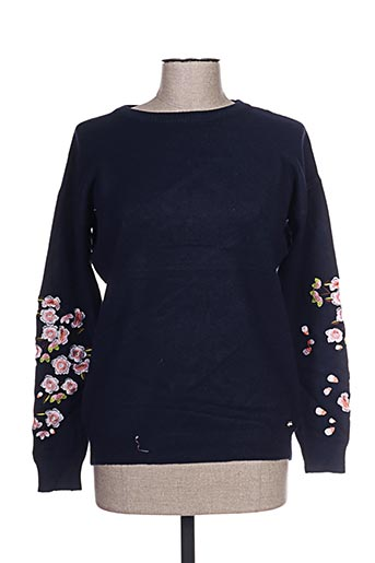 cherry bloom pulls femme de couleur bleu