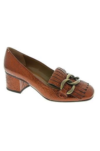 bianca di chaussures femme de couleur orange