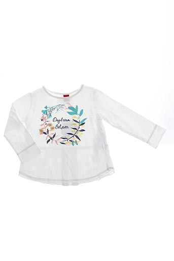 T-shirt manches longues blanc PLAY'UP pour fille