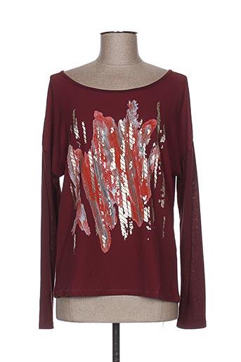 exquiss's t-shirts femme de couleur rouge