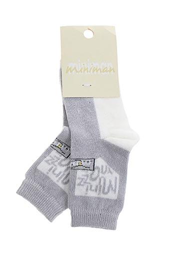 Chaussettes gris MINIMAN pour fille