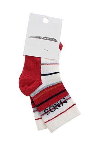 Chaussettes rouge MINIMAN pour garçon