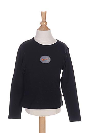 T-shirt manches longues noir NIKE pour fille