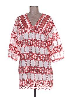 Robe courte rouge VALERIE KHALFON pour femme