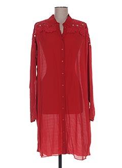 Robe mi-longue rouge VALERIE KHALFON pour femme