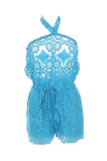 Combishort bleu VALERIE KHALFON pour femme