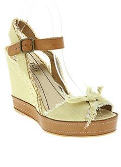 Sandales/Nu pieds beige ANN TUIL pour femme