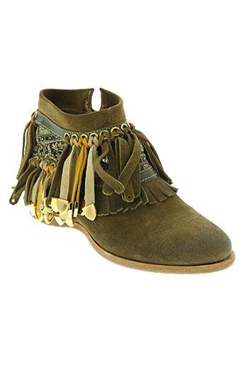Bottines/Boots vert AREA FORTE pour femme