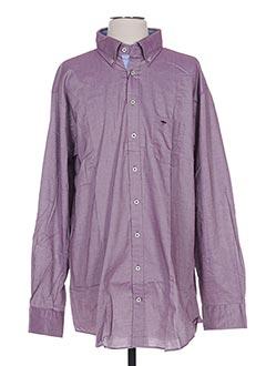 Chemise manches longues violet FYNCH-HATTON pour homme