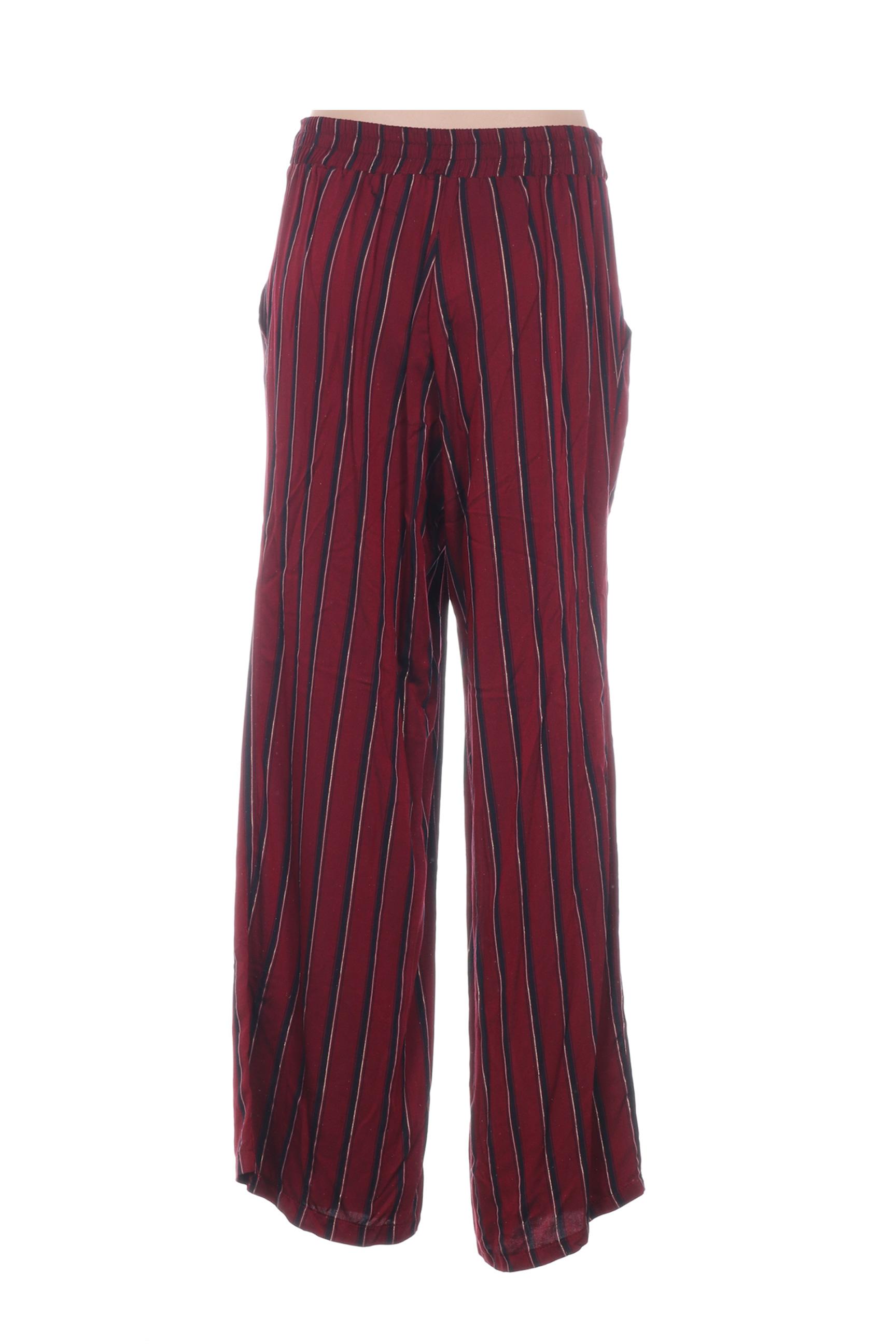 Show Girls Pantalons Decontractes Femme De Couleur Rouge En Soldes Pas Cher 1277824-rouge0