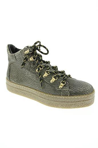 Bottines/Boots gris DONNA CAROLINA pour femme