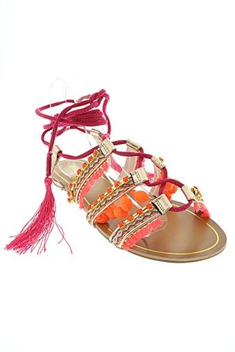 playa chaussures femme de couleur rose