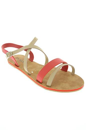 playa chaussures femme de couleur rouge
