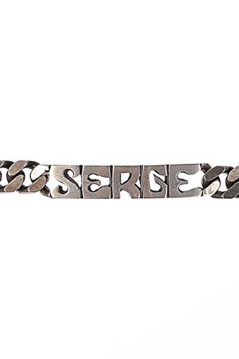 Bracelet gris BIJOUTERIE SIGAUX pour homme