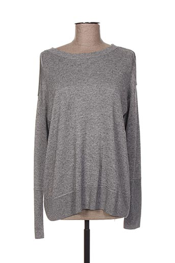 Pull col rond gris HOTEL PARTICULIER pour femme