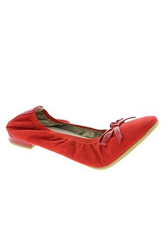 les p'tites bombes chaussures femme de couleur rouge