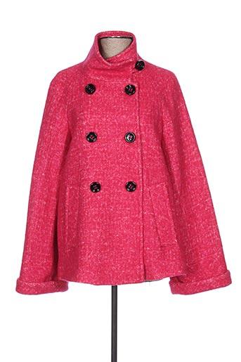 Manteau long rose ÉCLÀ pour femme