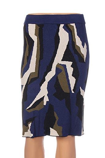 Jupe mi-longue bleu ISABEL DE PEDRO pour femme