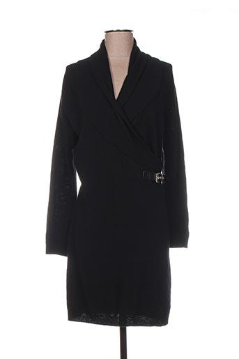Robe mi-longue noir GUIDO LOMBARDI pour femme