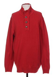 Pull col cheminée rouge HARRIS WILSON pour homme