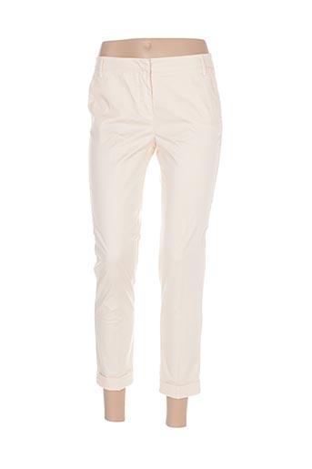 Pantalon 7/8 beige MANILA GRACE pour femme