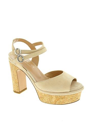 twinset chaussures femme de couleur beige