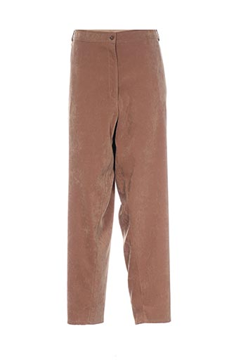 Pantalon casual marron BOULEVARD BY RONDISSIMO pour femme
