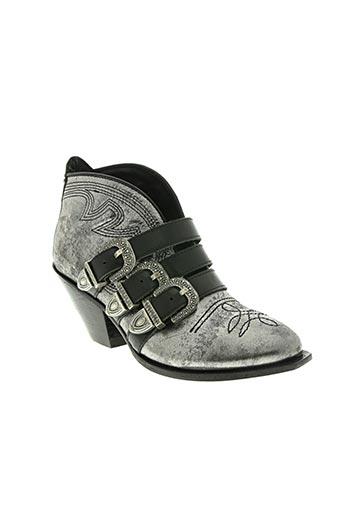 area forte chaussures femme de couleur gris