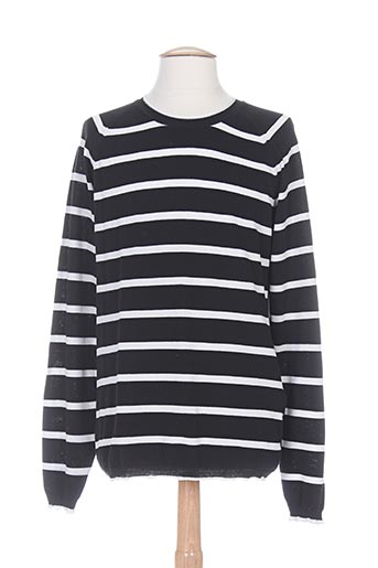 Pull col rond noir MARCIANO pour homme